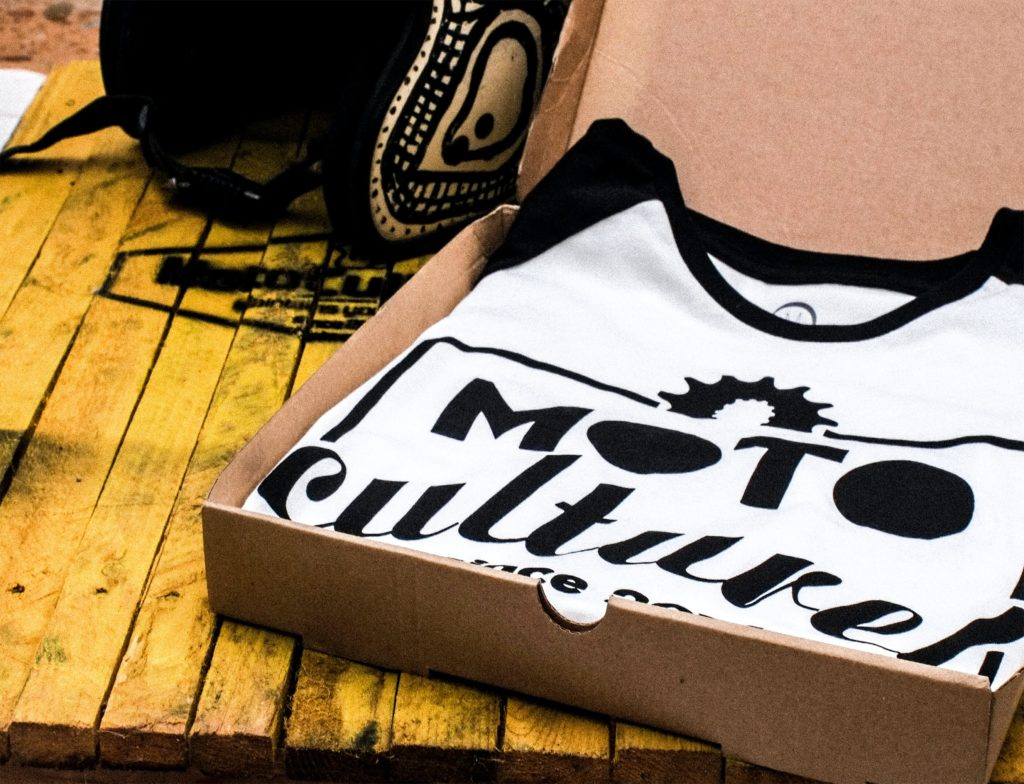 Print-On-Demand Shirts in a package